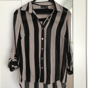 Tops - Striped blouse in size S